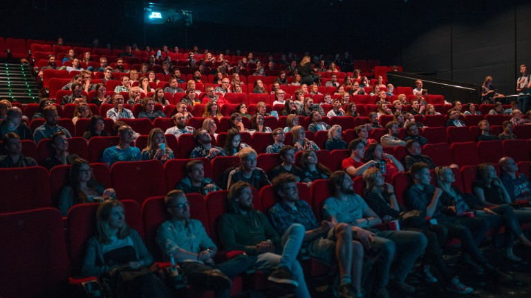 Audience in full cinema