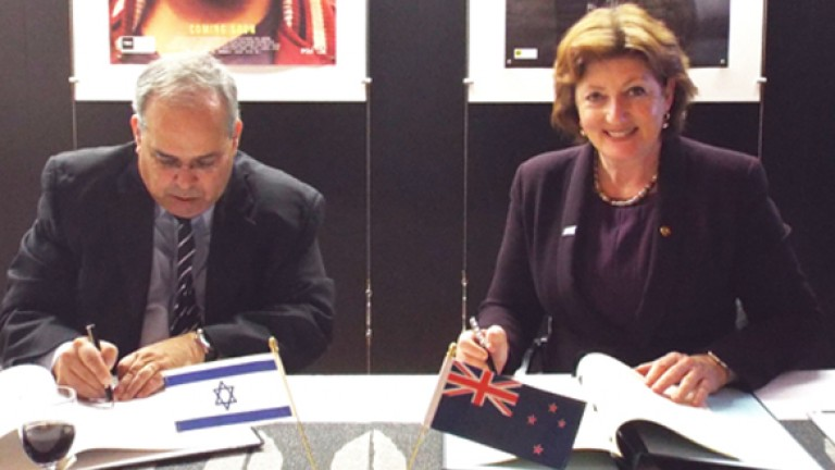 Israeli Ambassador, H.E. Yosef Livne, and New Zealand's Minister for Arts, Culture and Heritage, Hon. Maggie Barry