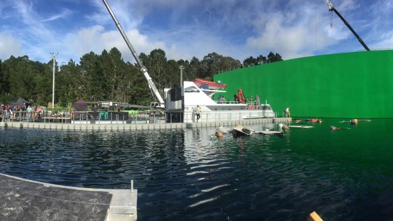 Film studio outdoor water tank