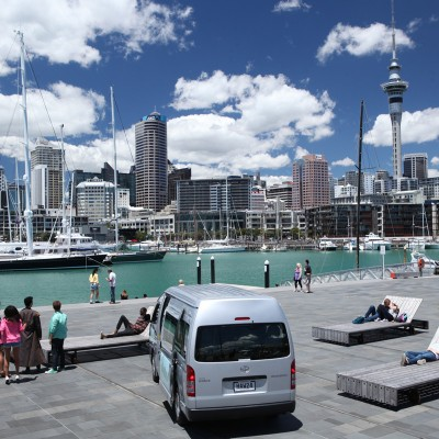 Auckland's skyline overwhelms the Rangers in World Famous (in New Zealand)