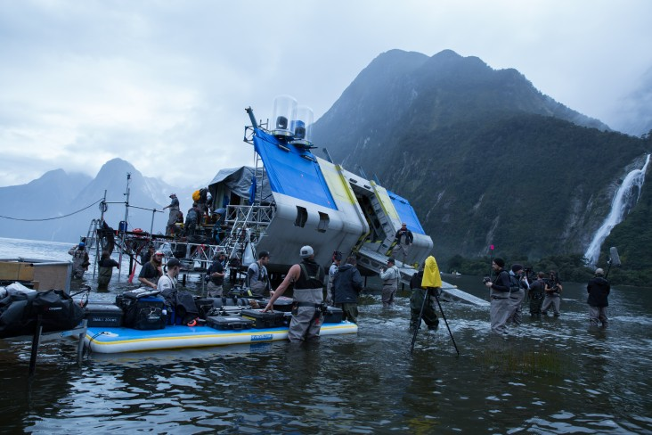 Crew on the set of Alien: Covenant