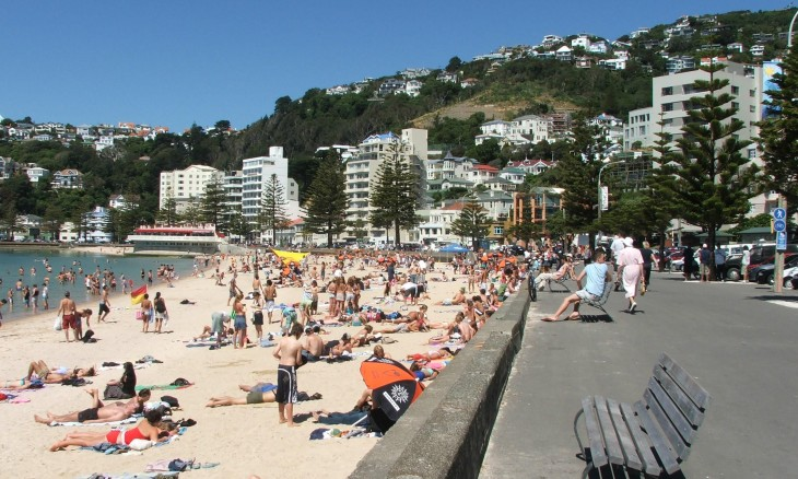 Oriental Bay, Wellington, North Island