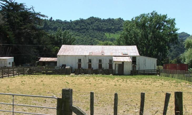 Farm buildings, Manawatu-Wanganui, North Island