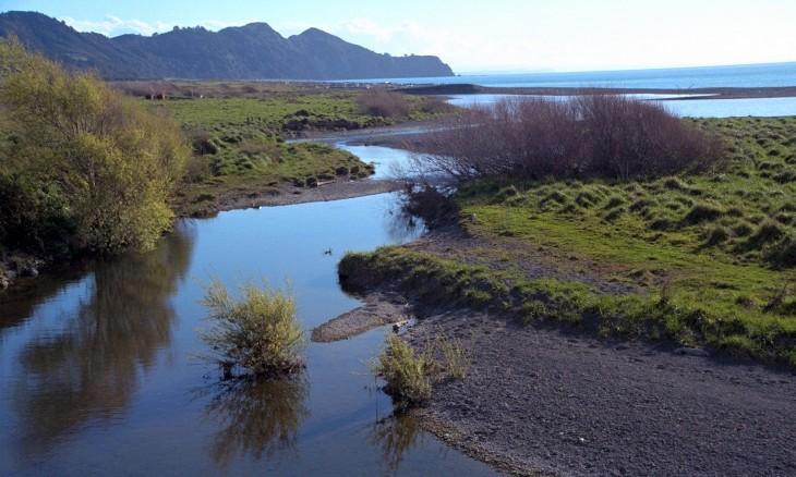 Waioeka River at Opotiki, Bay of Plenty, North Island