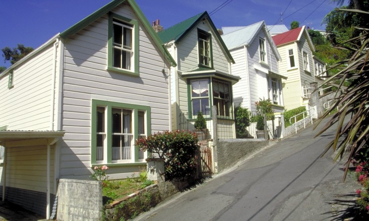 Suburban houses, Wellington, North Island