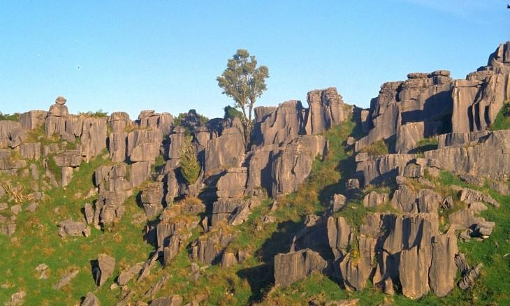 Rock formations near Waitomo, Waikato, North Island