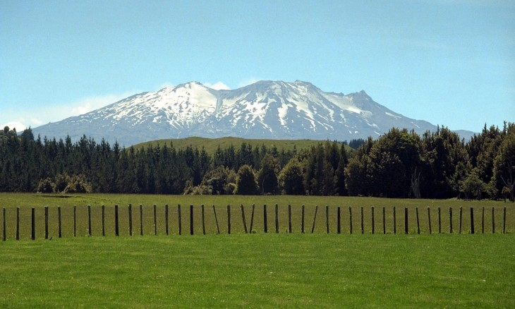 Mt Ruapehu from the south, Central Plateau, North Island
