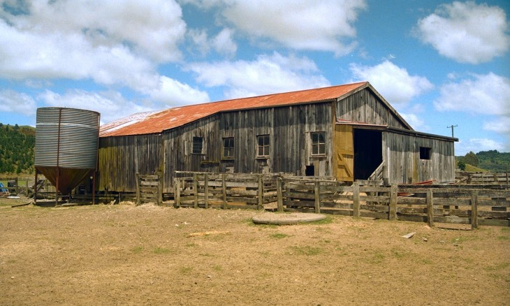 Barn near Taumaranui, Manawatu-Wanganui, North Island