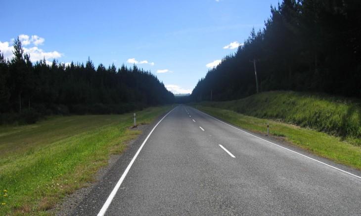 Road near Mangakino, Waikato, North Island