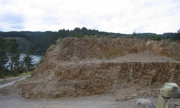 Lake Matahina quarry, Bay of Plenty, North Island