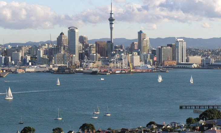 Auckland City from Devonport, Auckland, North Island