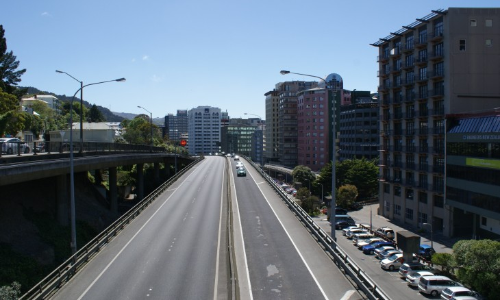 Wellington motorway, North Island