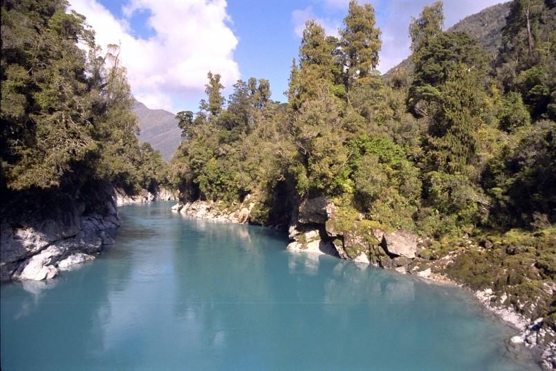 River near Hokitika, West Coast, South Island