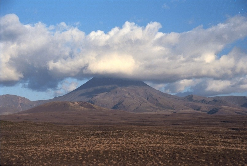 Mt Ngauruhoe from the east, Central Plateau, North Island