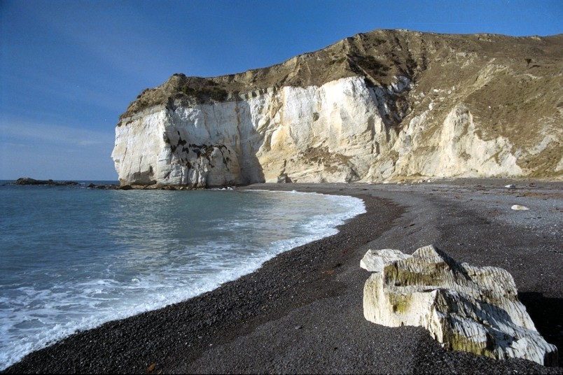White cliffs near Cheviot, Canterbury, South Island