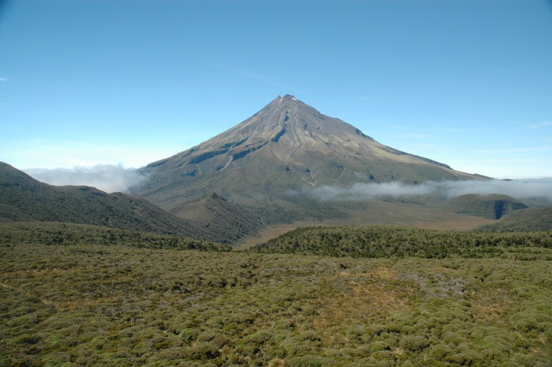 Mt Taranaki from the north (summer), Taranaki, North Island
