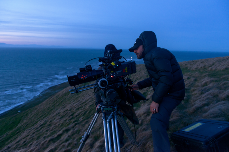 Capturing the sunset at Cape Campbell