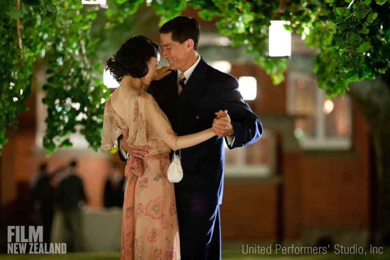 Matthew Fox and Eriko Hatsune as General Bonner Fellers and Aya Shimada