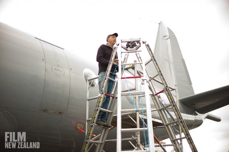 Cinematographer Stuart Dryburgh on location at Ardmore Airport