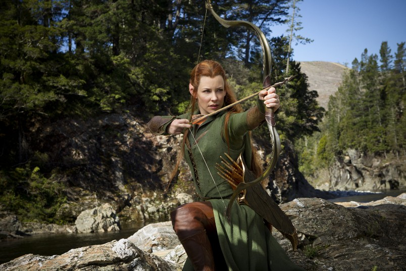 Tauriel (Evangeline Lilly) takes a bow (and an arrow)