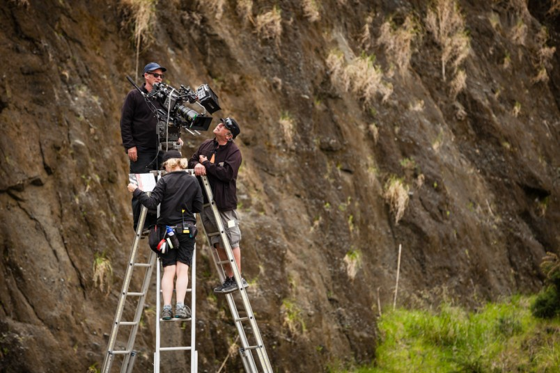 Camera crew on location