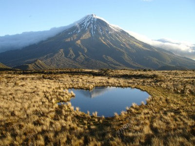 Mt Taranaki from the east, Taranaki, North Island