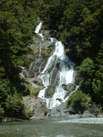 Fantail Falls, Haast pass, South Island